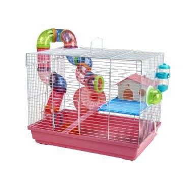 Pet Ting Pink Peach Rodent Cage